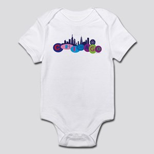 Chicago Circles And Skyline Infant Bodysuit