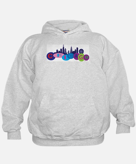 Chicago Circles And Skyline Hoody
