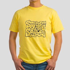 Support Yer Schoool Yellow T-Shirt