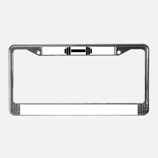 Barbell - weightlifting License Plate Frame