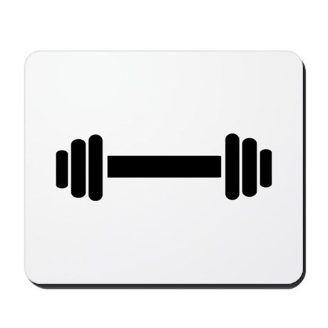 Barbell - weightlifting Mousepad
