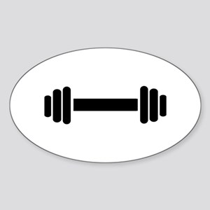 Barbell - weightlifting Sticker (Oval)