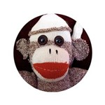 "Ernie the Sock Monkey 3.5"" Button (100 pack)"