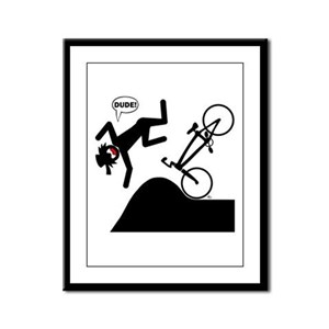 DOUBLES DUDE Cards, Bags, Apr Framed Panel Print