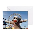 Ernie the Sock Monkey Happy Greeting Card