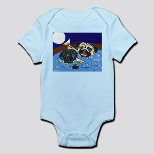 Hot Tub Pugs Infant Creeper