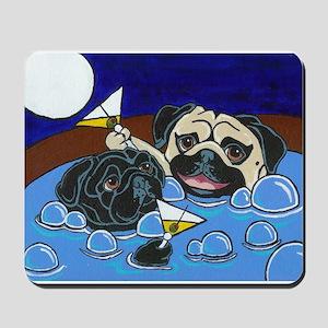 Hot Tub Pugs Mousepad