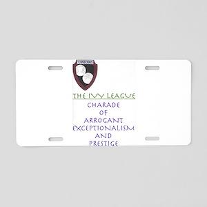 The Ivy League Aluminum License Plate