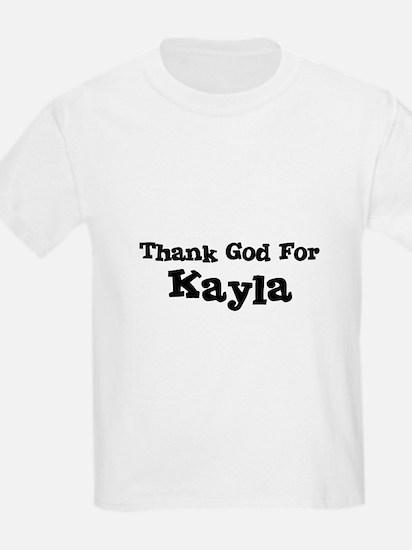 Thank God For Kayla Kids T-Shirt