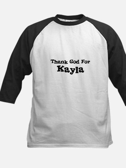 Thank God For Kayla Kids Baseball Jersey
