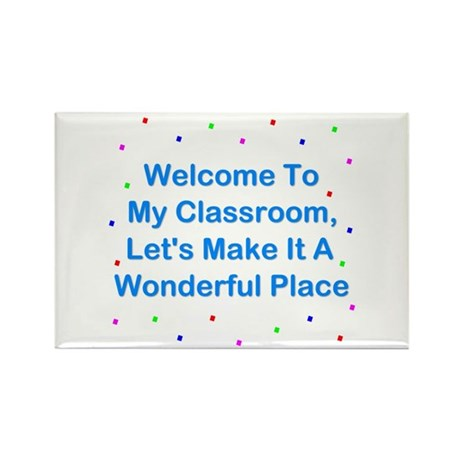 Welcome To My Classroom Rectangle Magnet (10 pack)