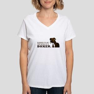 Blessed Boxer Mom Women's V-Neck T-Shirt