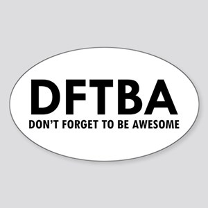 DFTBA Sticker (Oval)
