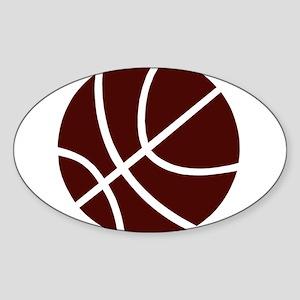 BASKETBALL *2* {crimson} Sticker (Oval)