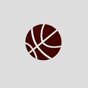 BASKETBALL *2* {crimson} Mini Button