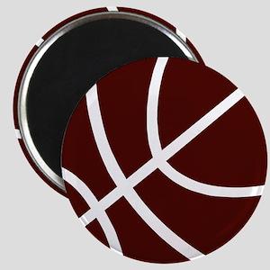 BASKETBALL *2* {crimson} Magnet