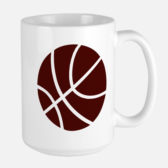 BASKETBALL *2* {crimson} Large Mug