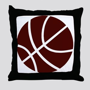 BASKETBALL *2* {crimson} Throw Pillow
