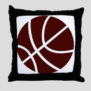 BASKETBALL *2* {crimson} Throw Pillow
