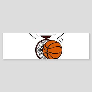 BASKETBALL *4* Sticker (Bumper)