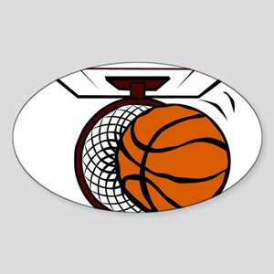 BASKETBALL *4* Sticker (Oval)