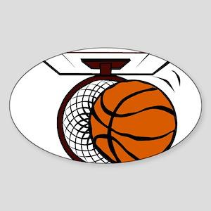 BASKETBALL *4* Sticker (Oval)