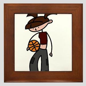 BASKETBALL *5* {crimson} Framed Tile