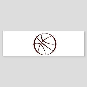 BASKETBALL *6* {crimson 4} Sticker (Bumper)