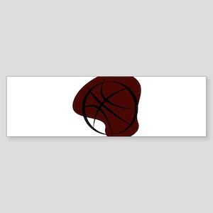 BASKETBALL *7* {crimson 3} Sticker (Bumper)