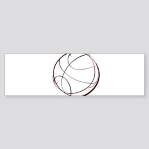BASKETBALL *9* {crimson} Sticker (Bumper)