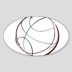 BASKETBALL *9* {crimson} Sticker (Oval)
