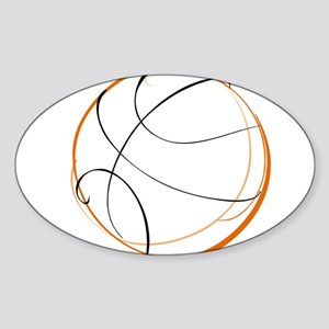 BASKETBALL *9* {orange} Sticker (Oval)