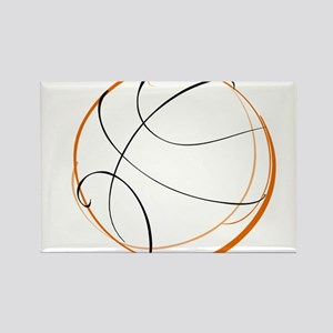 BASKETBALL *9* {orange} Rectangle Magnet