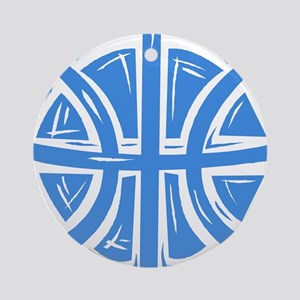 BASKETBALL *12* {blue} Ornament (Round)