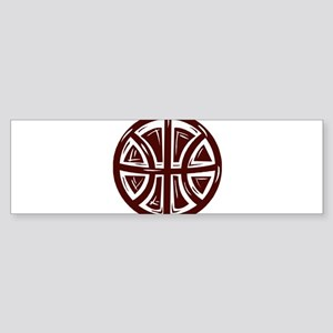 BASKETBALL *12* {crimson} Sticker (Bumper)