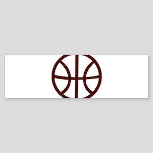 BASKETBALL *15* {crimson} Sticker (Bumper)