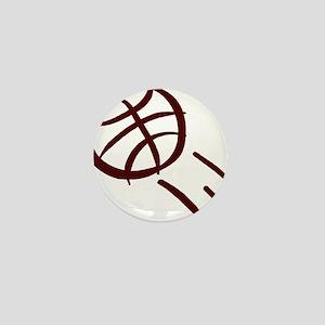 BASKETBALL *19* {crimson} Mini Button