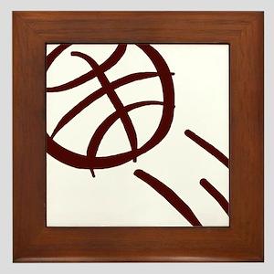 BASKETBALL *19* {crimson} Framed Tile