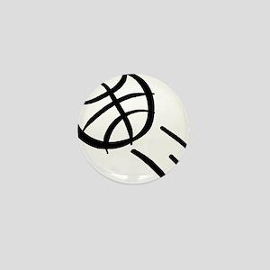 BASKETBALL *19* {black} Mini Button