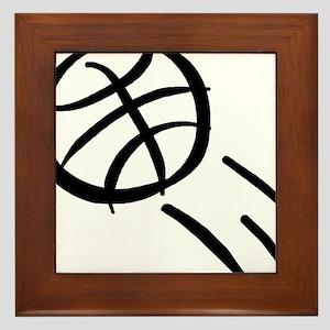 BASKETBALL *19* {black} Framed Tile
