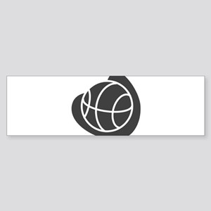 BASKETBALL *20* {gray} Sticker (Bumper)