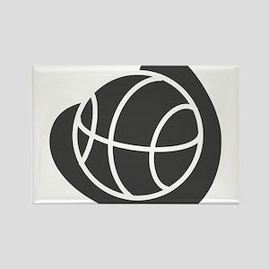 BASKETBALL *20* {gray} Rectangle Magnet