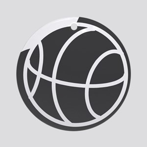BASKETBALL *20* {gray} Ornament (Round)