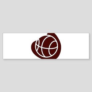 BASKETBALL *20* {crimson} Sticker (Bumper)