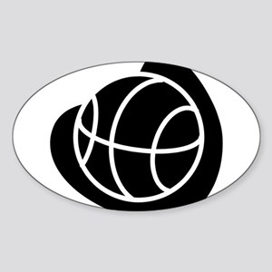 BASKETBALL *20* {black} Sticker (Oval)