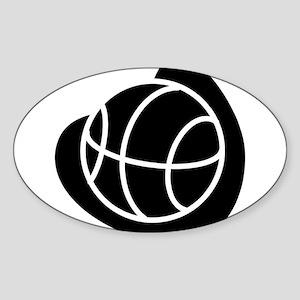 BASKETBALL *20* {black} Sticker (Oval)