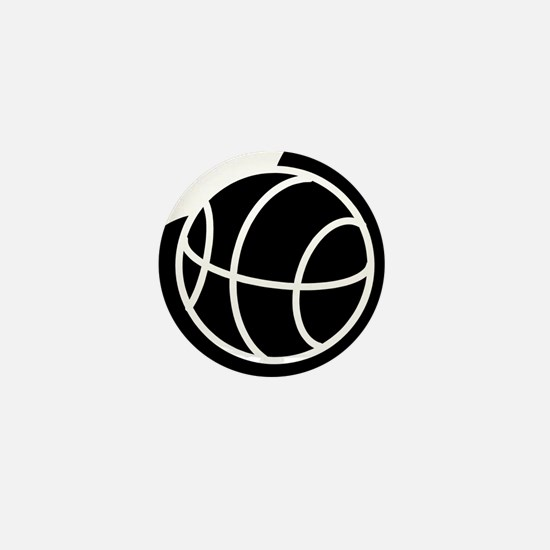 BASKETBALL *20* {black} Mini Button