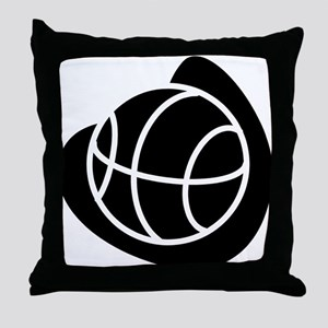 BASKETBALL *20* {black} Throw Pillow
