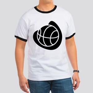 BASKETBALL *20* {black} Ringer T