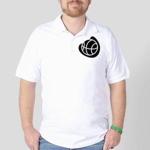 BASKETBALL *20* {black} Golf Shirt